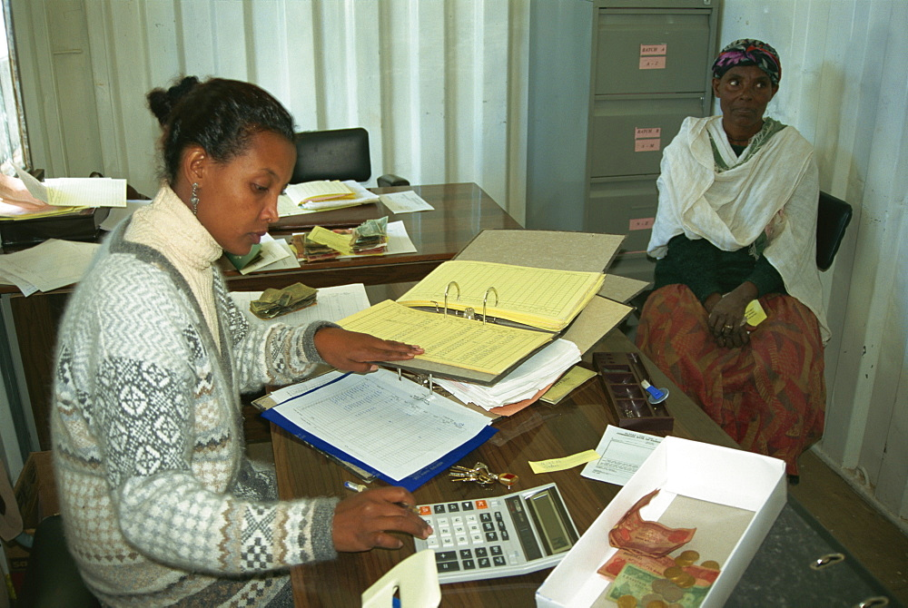 Accountant for women's co-operative, Addis Ababa, Ethiopia, Africa