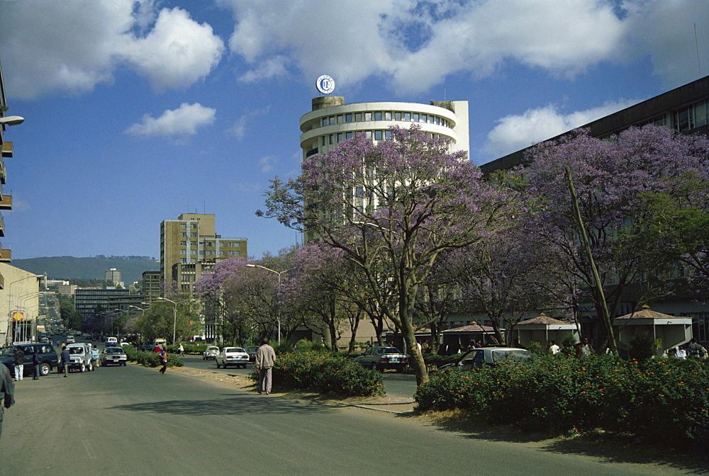 Street scene in Addis Ababa, Ethiopia, Africa