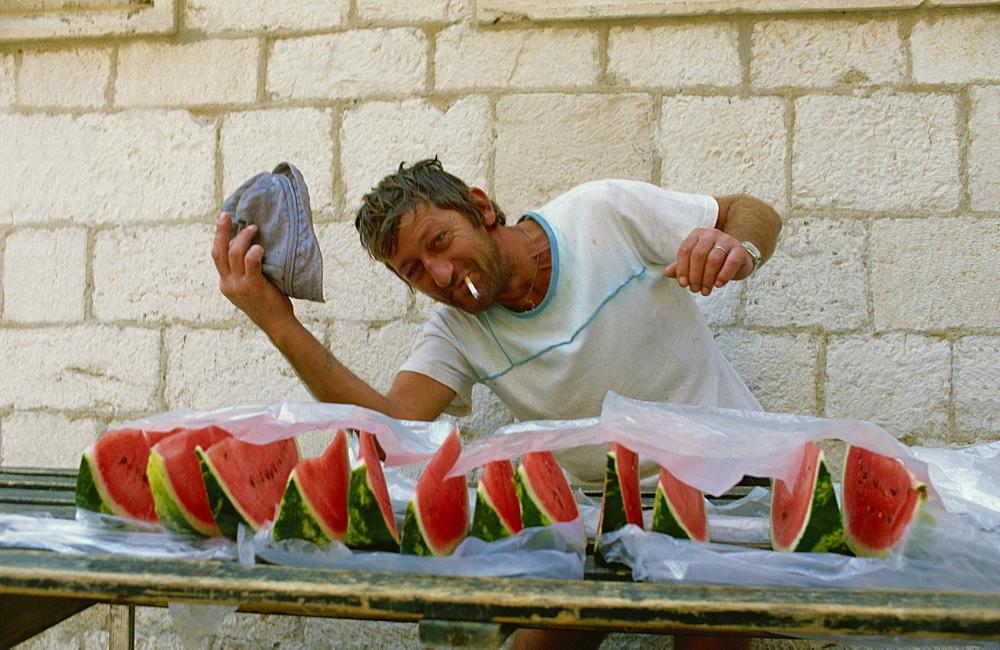 Water melon seller, Dubrovnik, Croatia, Europe - 59-1107