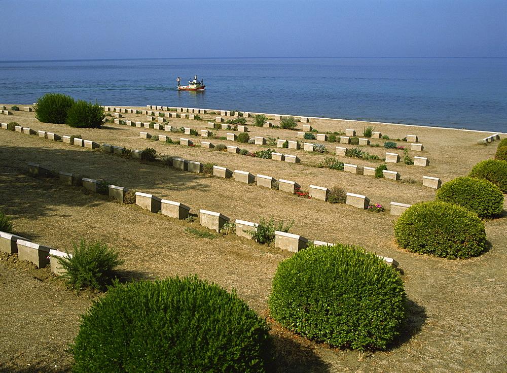 War graves near Anzac Cove, Gallipoli, Turkey, Europe - 59-2207