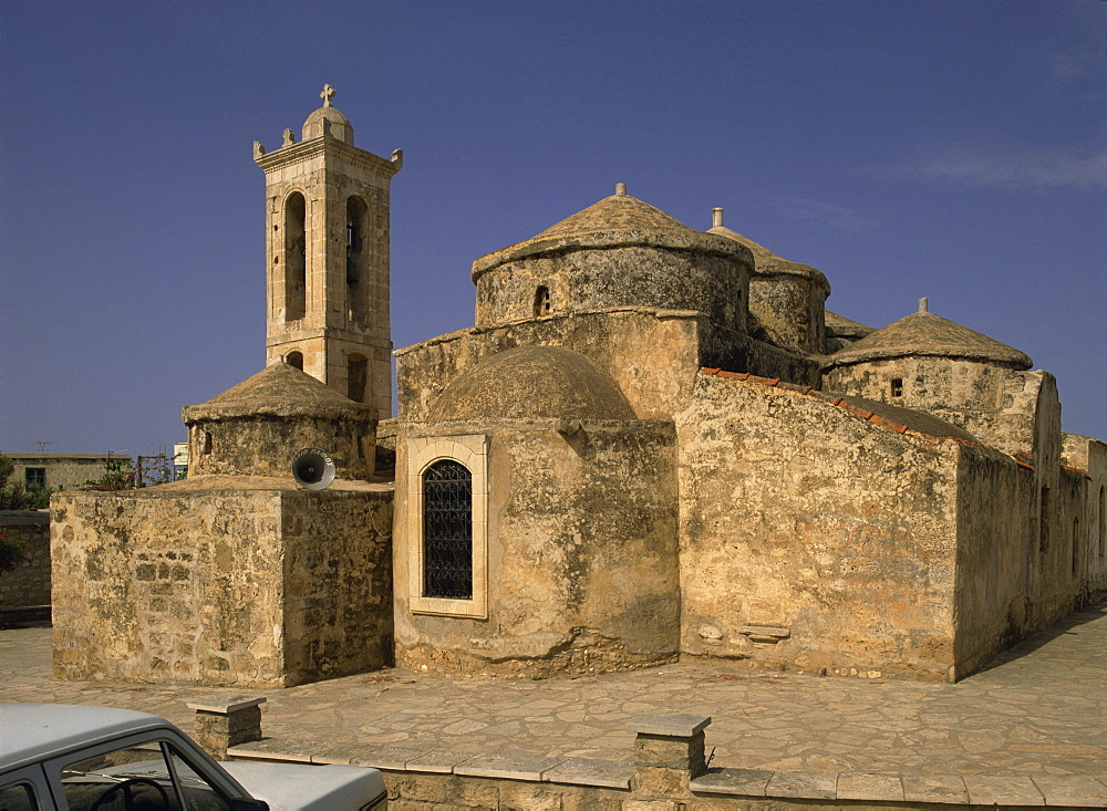 Unusual domes, Ayia Paraskevi church, dating from the 11th century, Yeroskipos near Paphos, Cyprus, Europe - 59-2560