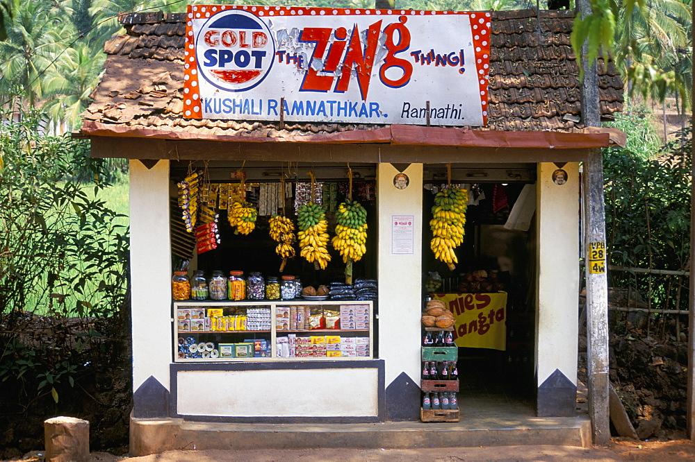 Village shop, Hindu Ponda, Goa, India, Asia