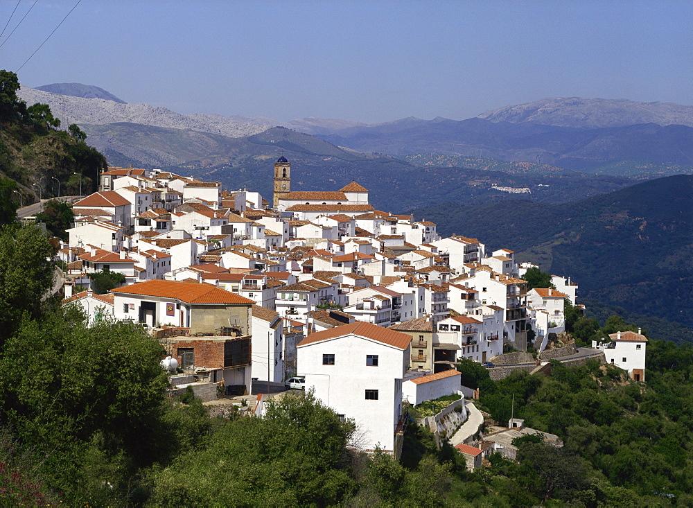 The white village of Algatocin, Andalucia, Spain, Europe - 59-3736