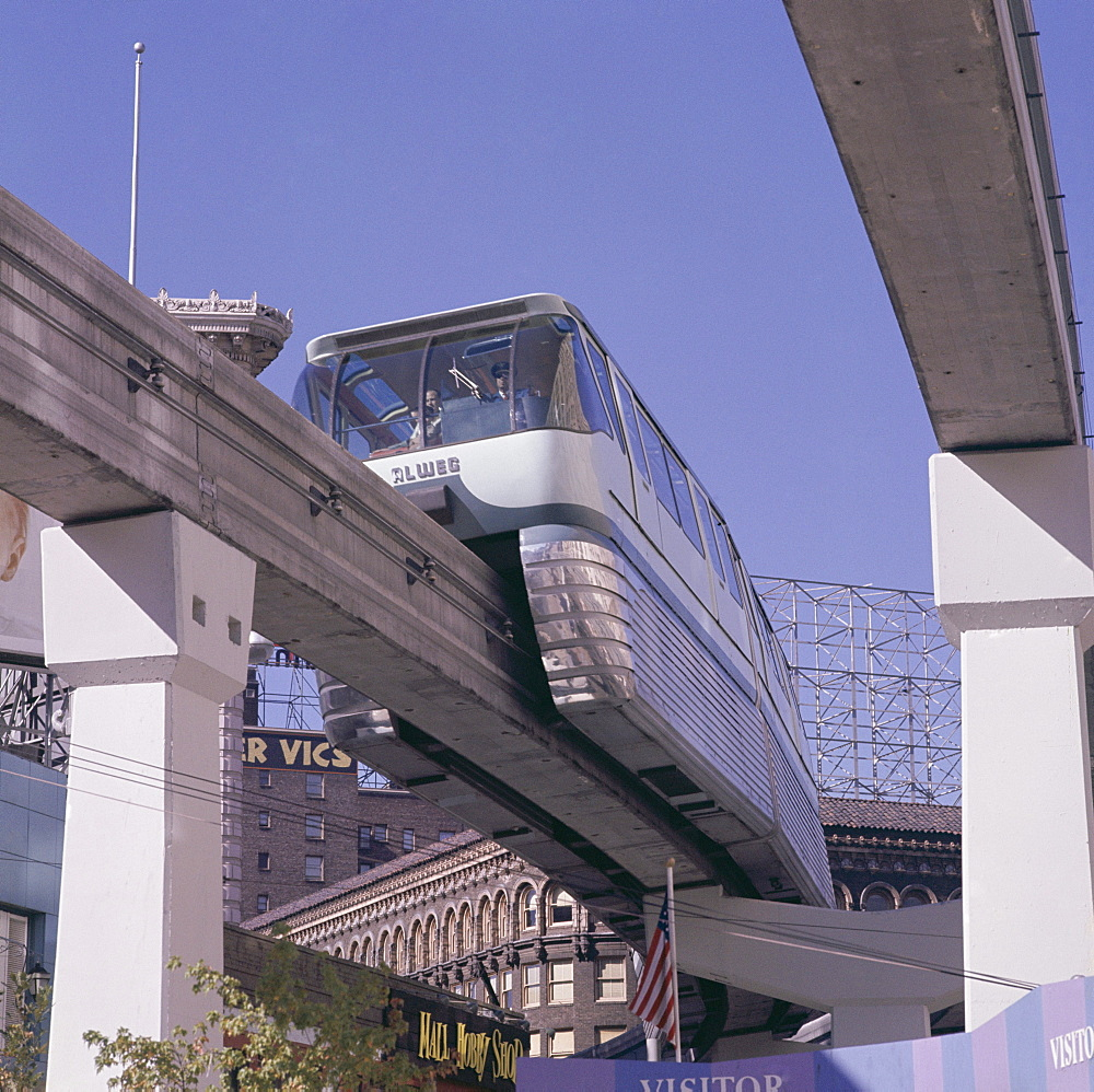 The Alweg Monorail, built for the Seattle Expo, Seattle, Washington State, United States of America (USA), North America