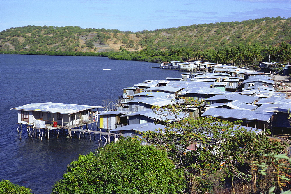 Stilt village, Idlers Bay, near Port Moresby, Papua New Guinea, Pacific