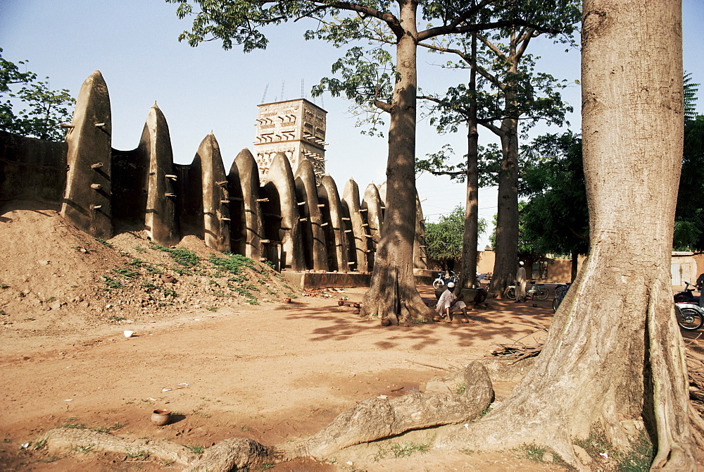 Mossi style mosque, Ouagadougou, Burkina Faso, Africa
