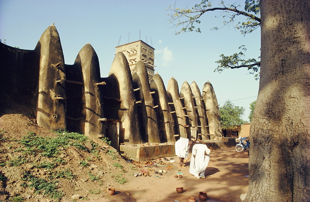 Mossi style old mosque, Ouagadougou, Burkina-Faso, Africa