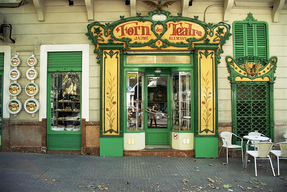 Baker's shop, Palma, Majorca, Balearic Islands, Spain, Europe - 612-54