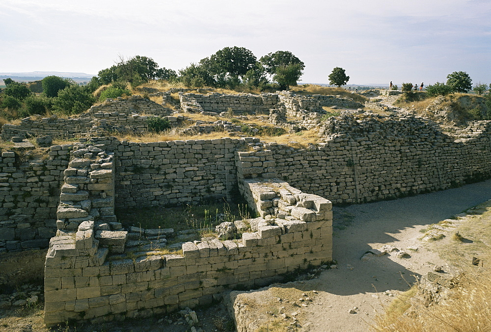 Ancient ruins, Troy, UNESCO World Heritage Site, Anatolia, Turkey, Asia Minor, Eurasia