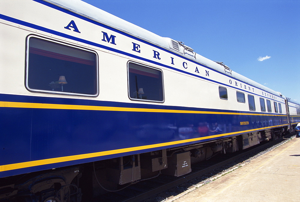 The American Orient Express train, travelling in the Southwest U.S., United States of America, North America - 615-449