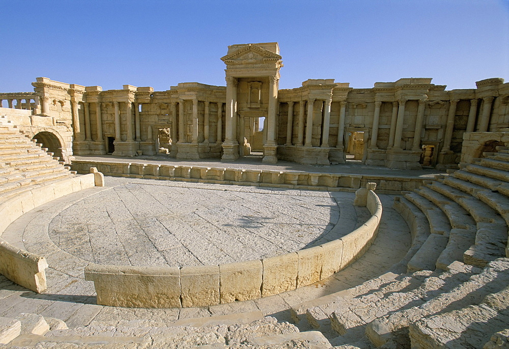 Theatre, archaeological site, Palmyra, UNESCO World Heritage Site, Syria, Middle East