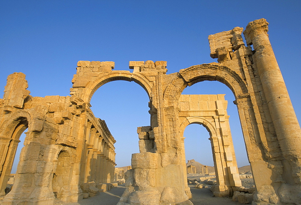 Ruins, Palmyra, UNESCO World Heritage Site, Syria, Middle East