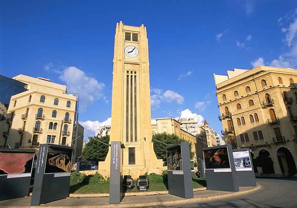 Rebuilt Place d'Etoile, Beirut, Lebanon, Middle East - 615-743