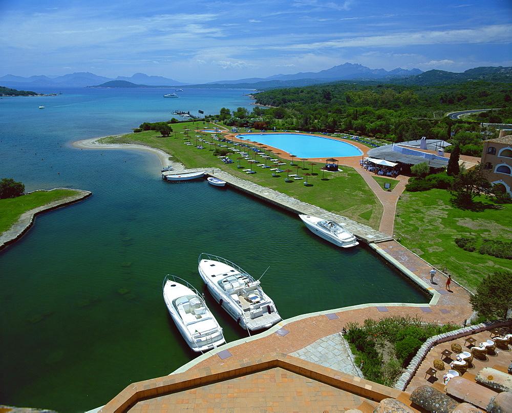 View from Hotel Cala di Volpe, Porto Cervo, Costa Smeralda, Sardinia, Italy, Mediterranean, Europe