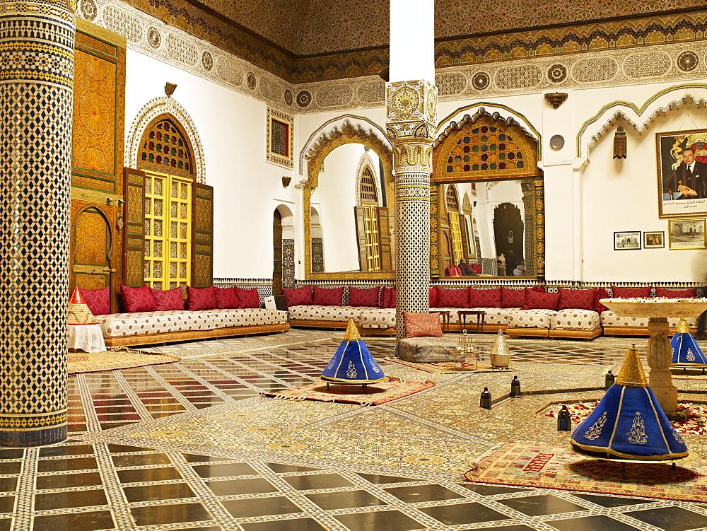 Palais M'Nebhi, The Medina, Fez, Morocco, North Africa, Africa