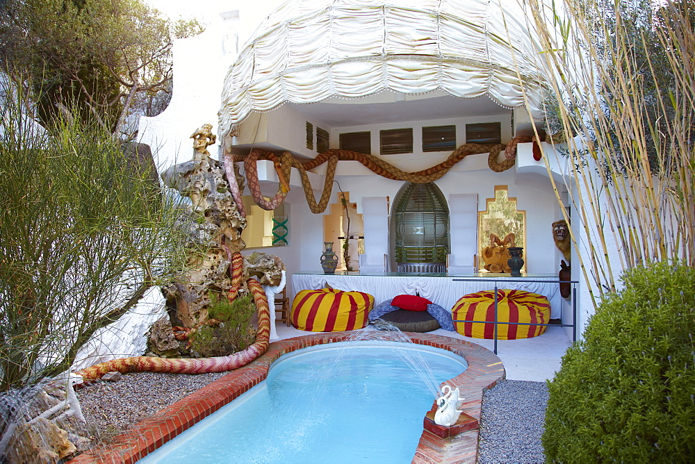 Pool Garden, Museum House of Salvador Dali, Port Lligat, Catalonia, Costa Brava, Spain, Europe