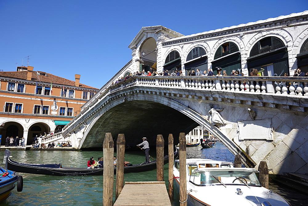 Rialto Bridge, Venice, UNESCO World Heritage Site, Veneto, Italy, Europe