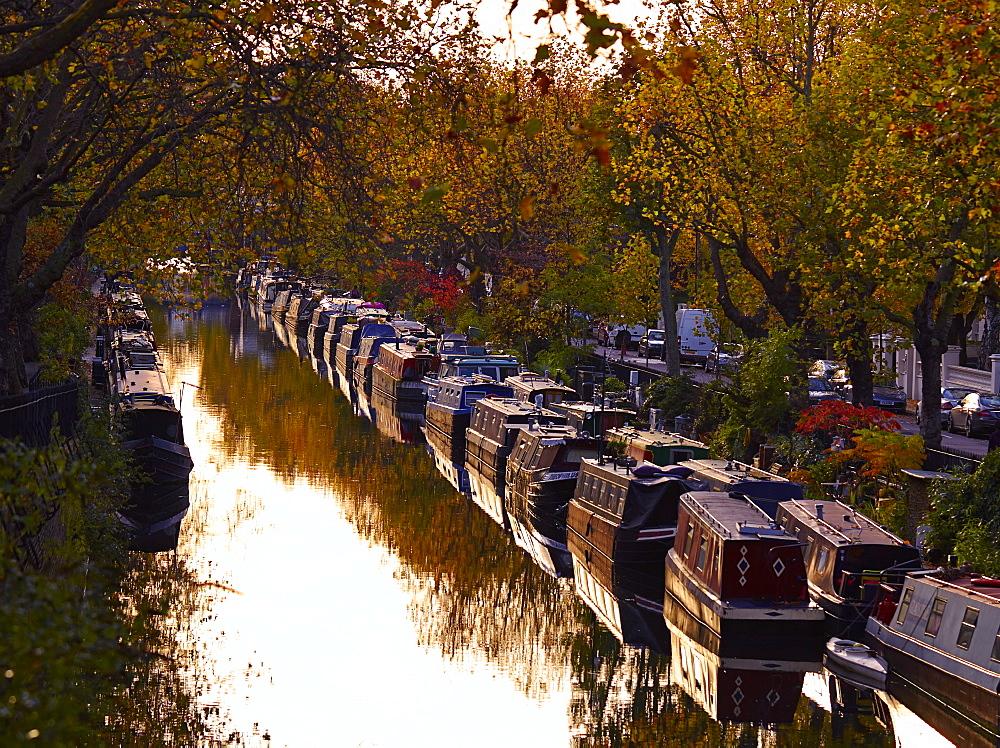 Canal boats, Little Venice, London W9, England, United Kingdom, Europe - 627-1239