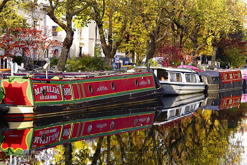 Canal boats, Little Venice, London W9, England, United Kingdom, Europe - 627-1240