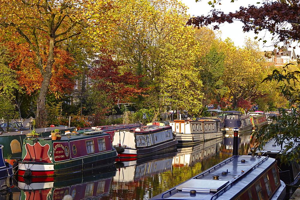 Canal boats, Little Venice, London W9, England, United Kingdom, Europe - 627-1241