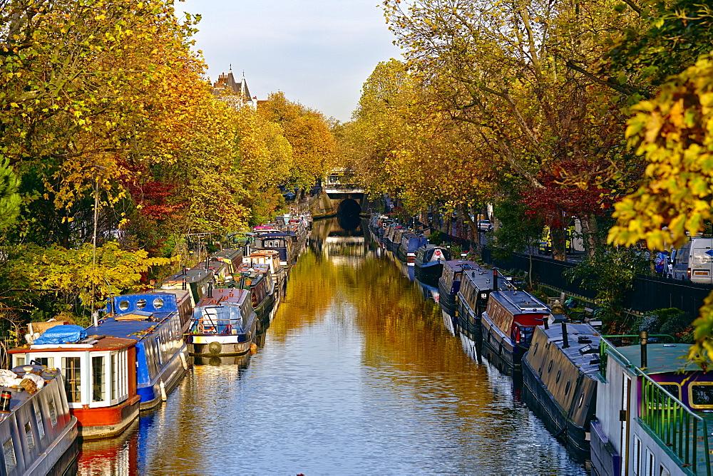 Canal boats, Little Venice, London W9, England, United Kingdom, Europe - 627-1242