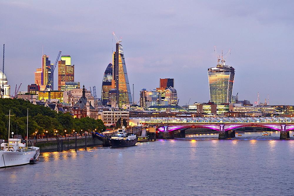 London from Waterloo Bridge, London, England, United Kingdom, Europe - 627-1245