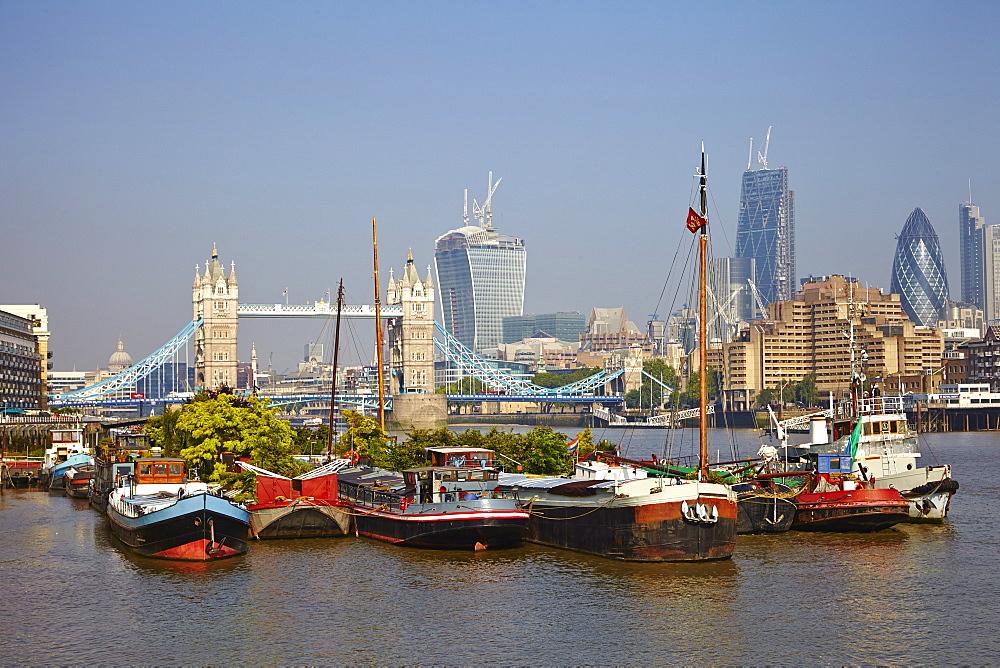Tower Bridge, River Thames, London, England, United Kingdom, Europe - 627-1249