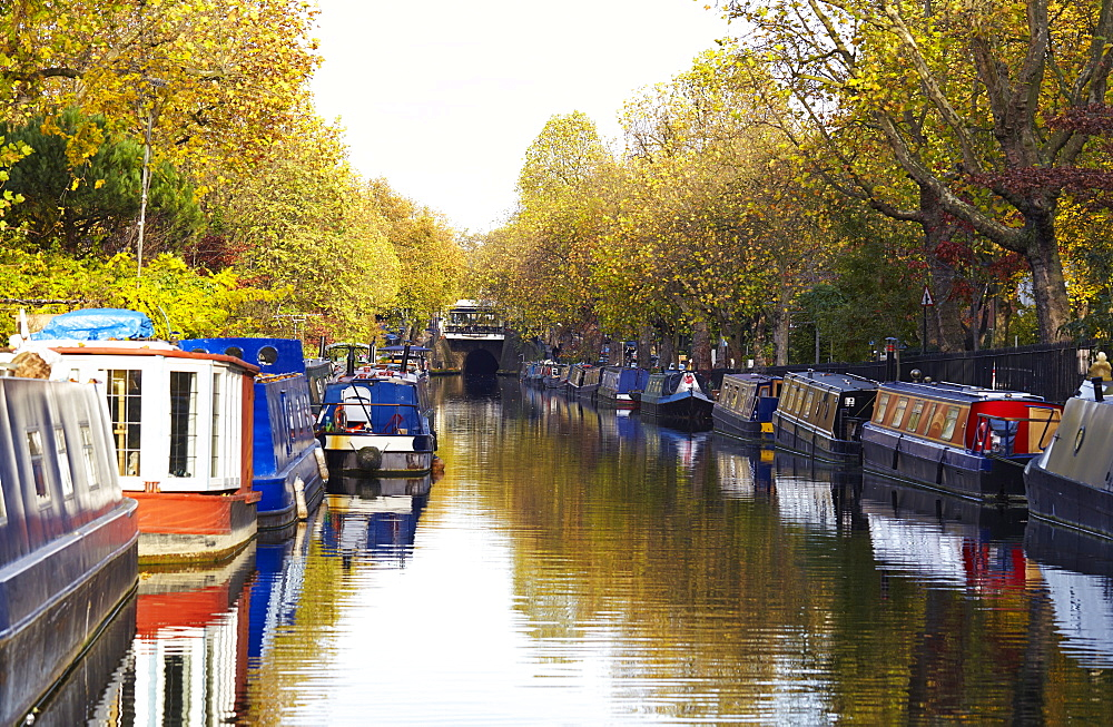 Canal boats, Little Venice, London, England, United Kingdom, Europe