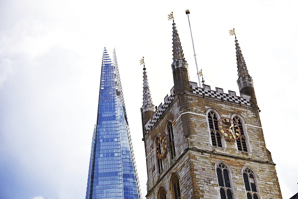 The Shard, Southwark Cathedral, London, England, United Kingdom, Europe - 627-1254