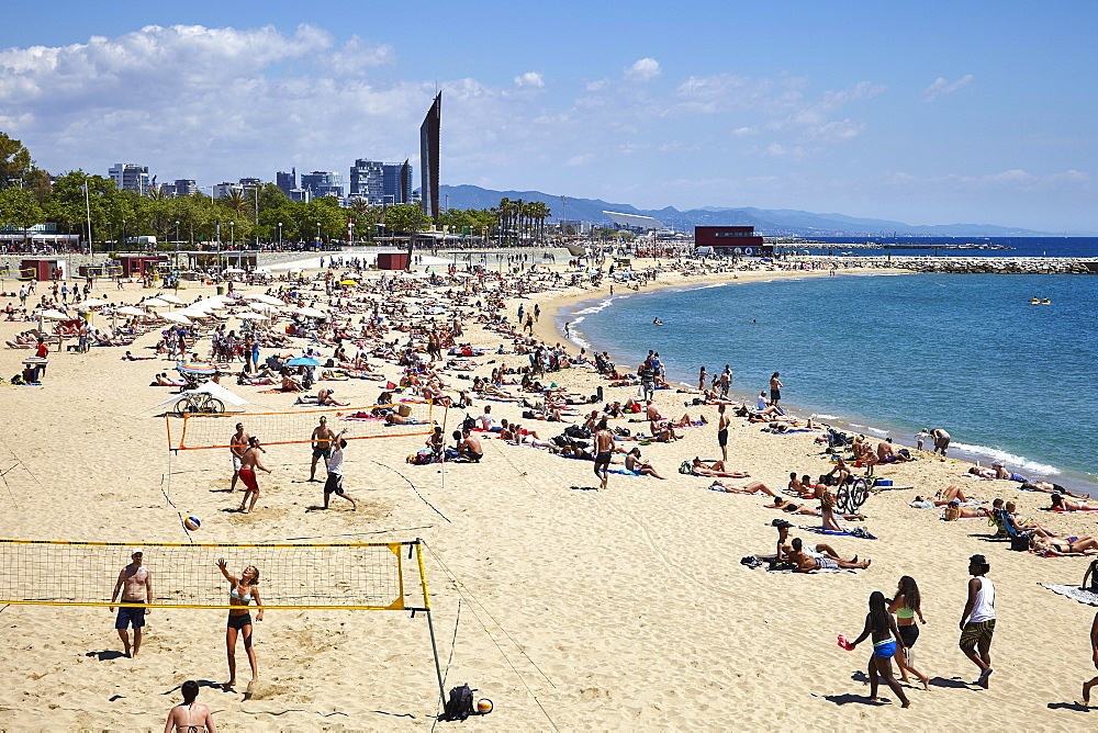 Barcelona Beach, Barcelona, Catalonia, Spain, Europe