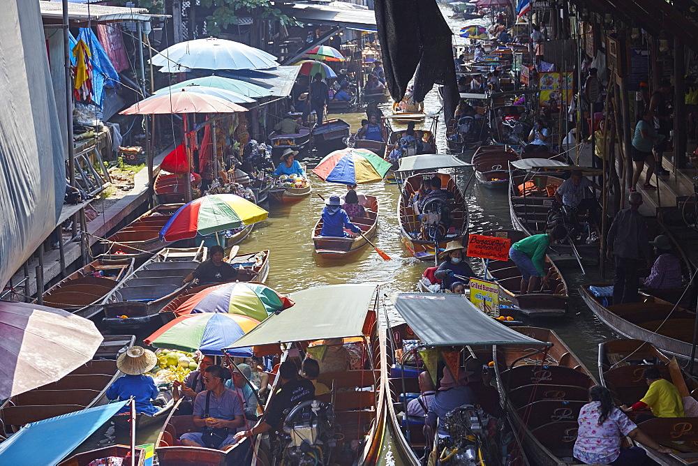 Dumnoen Saduak Floating Market, Bangkok, Thailand, Southeast Asia, Asia - 627-1342