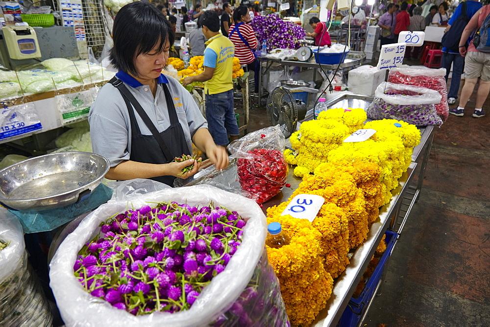 Yodpiman Flower Market, Bangkok, Thailand, Southeast Asia, Asia - 627-1343