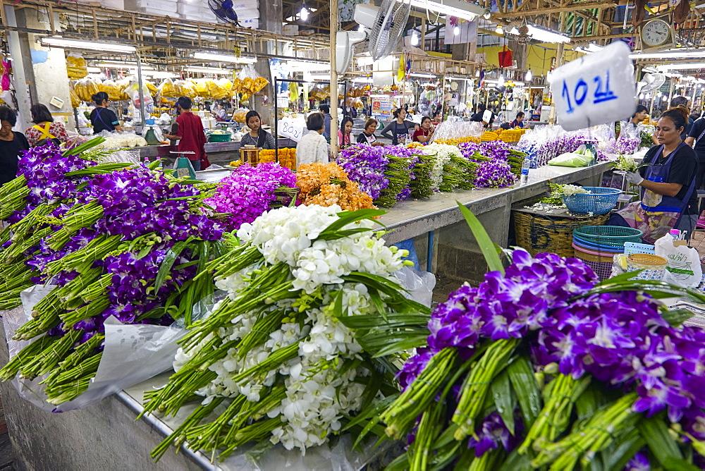 Yodpiman Flower Market, Bangkok, Thailand, Southeast Asia, Asia - 627-1344