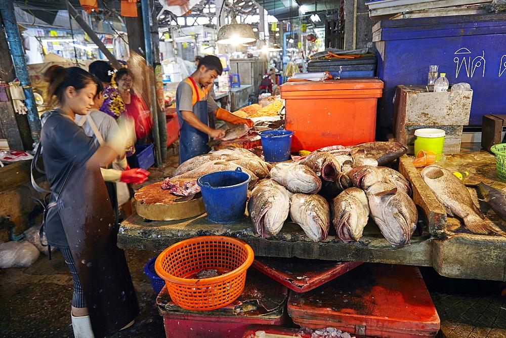 Fish Market at Samut Sakhon, Bangkok, Thailand, Southeast Asia, Asia - 627-1346