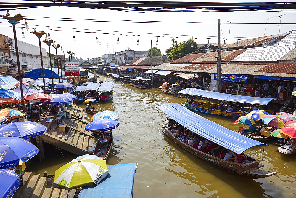 Amphawa floating market, Bangkok, Thailand, Southeast Asia, Asia - 627-1348
