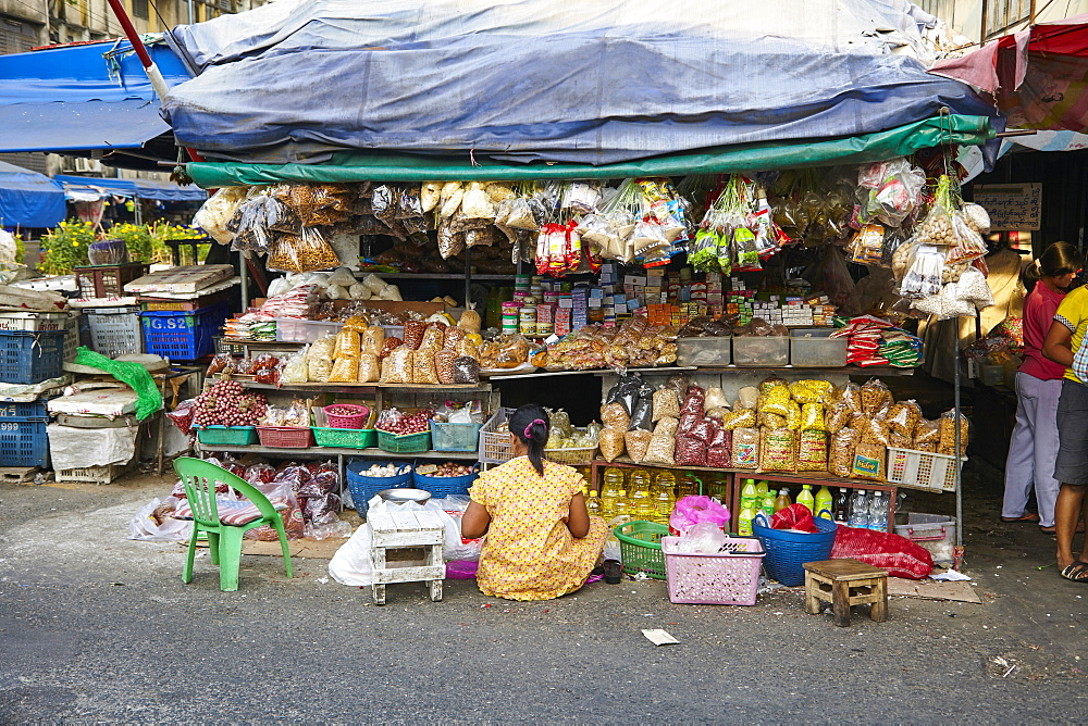 Market stall, Samut Sakhon, Bangkok, Thailand, Southeast Asia, Asia