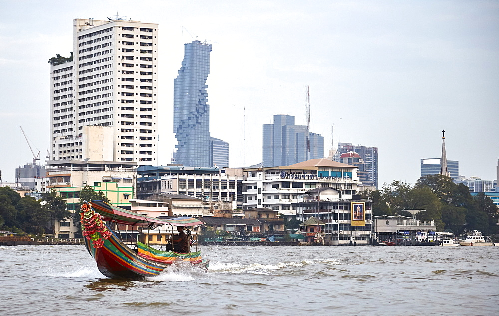 Chao Phraya River, Bangkok, Thailand, Southeast Asia, Asia - 627-1354