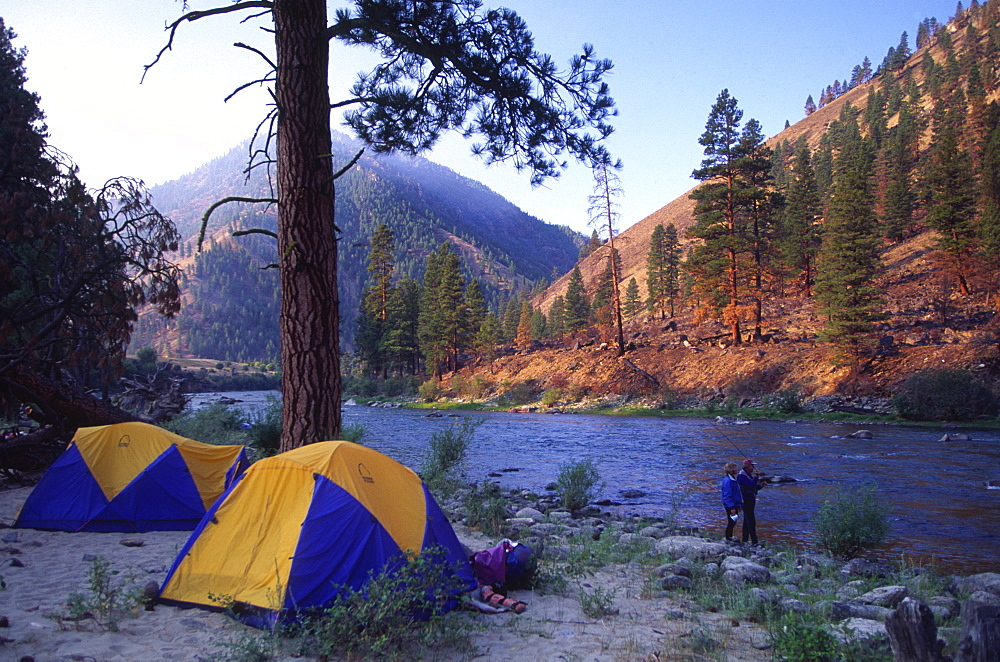Camping, Middle Fork, Salmon River, Idaho