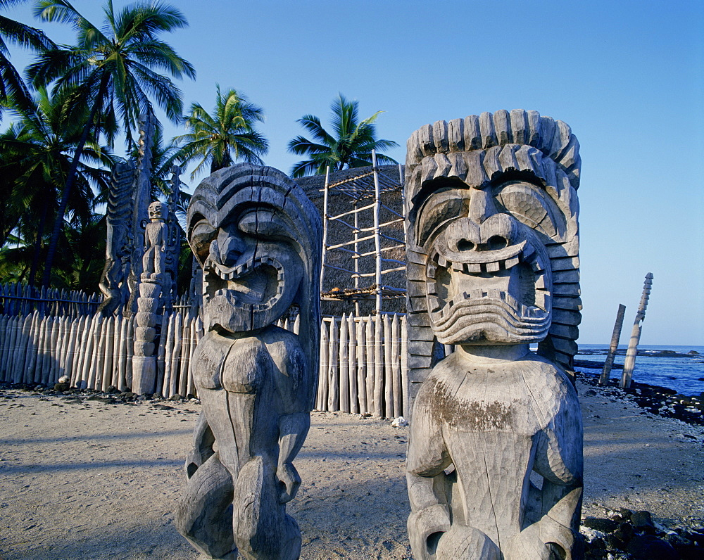 Pu'uhonua O Honaunau, City of Refuge, Island of Hawaii, Hawaii, USA
