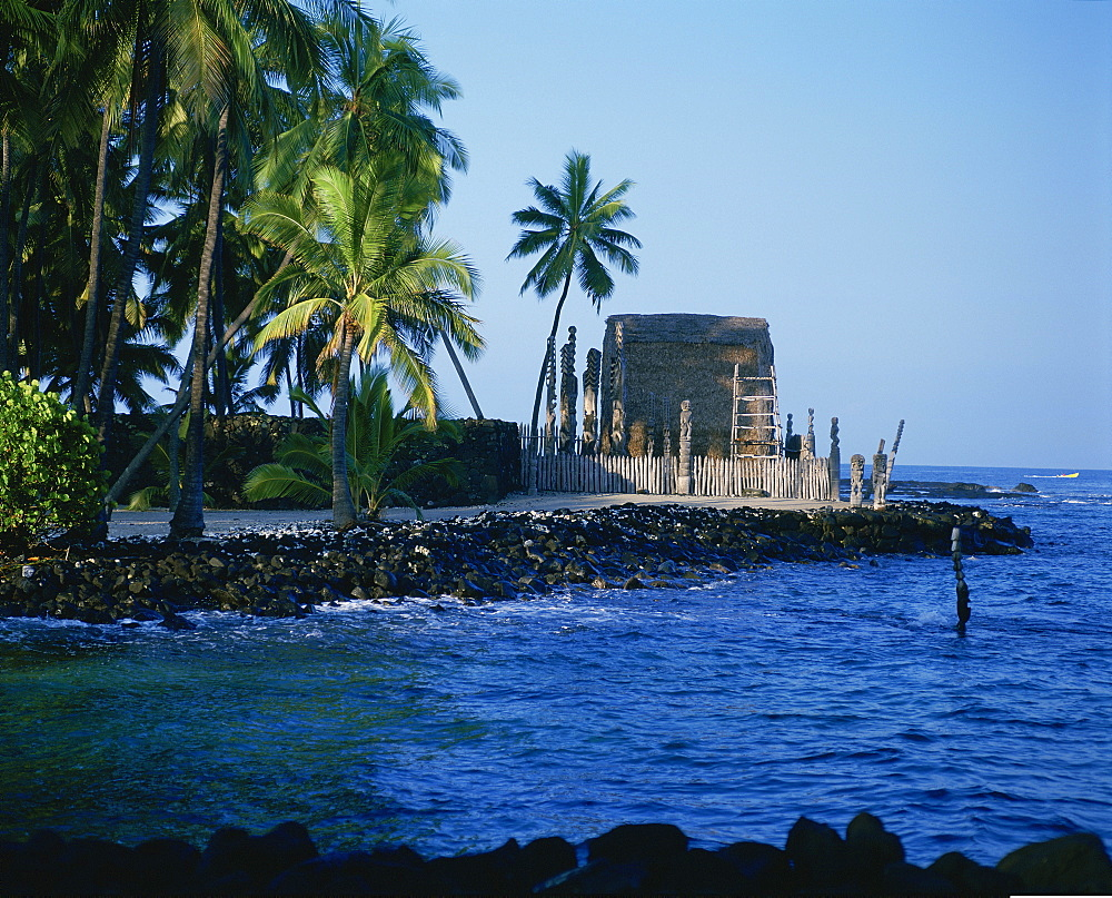 Pu'uhonua-o-Honaunau, Island of Hawaii, Hawaii, USA