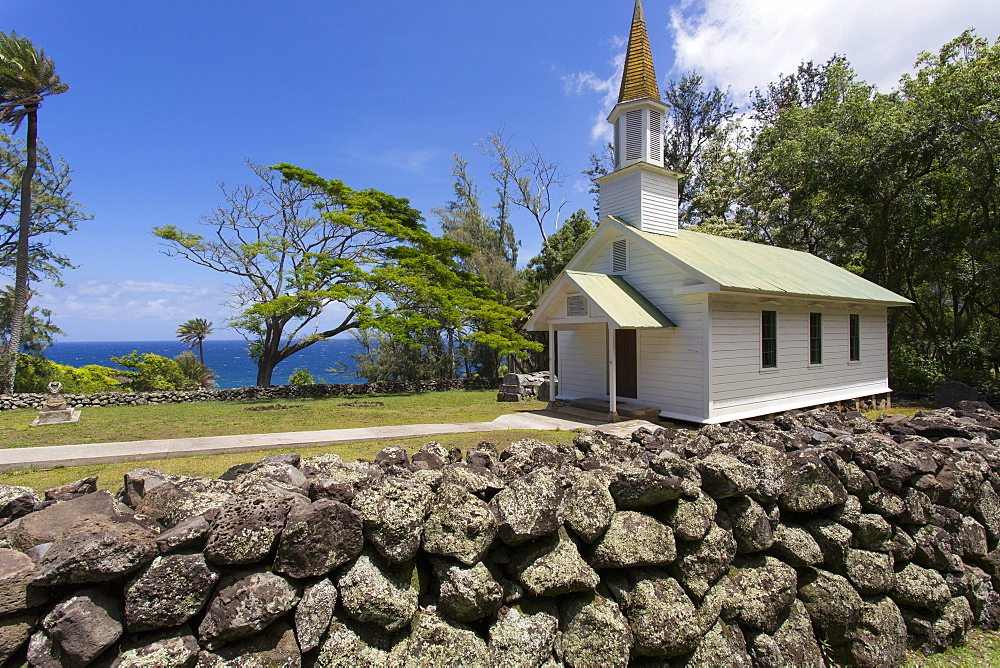 Siloama Church, dating from 1885, Kalaupapa Peninsula, Molokai, Hawaii, United States of America, Pacific - 632-5234