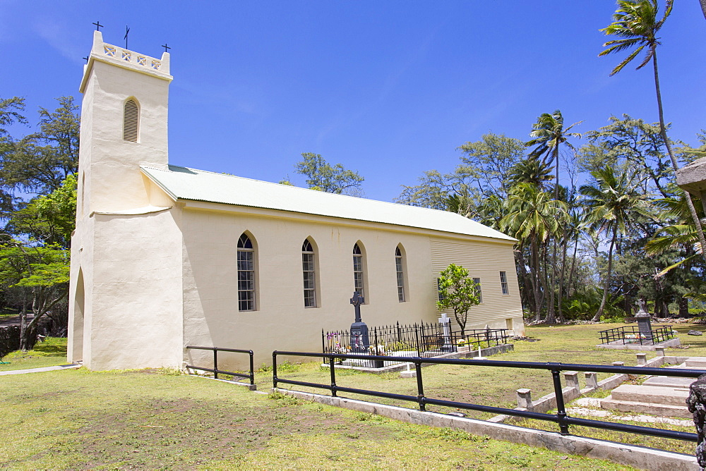 St. Philomena, Father Damien's church, Kalaupapa Peninsula, Molokai, Hawaii, United States of America, Pacific - 632-5237