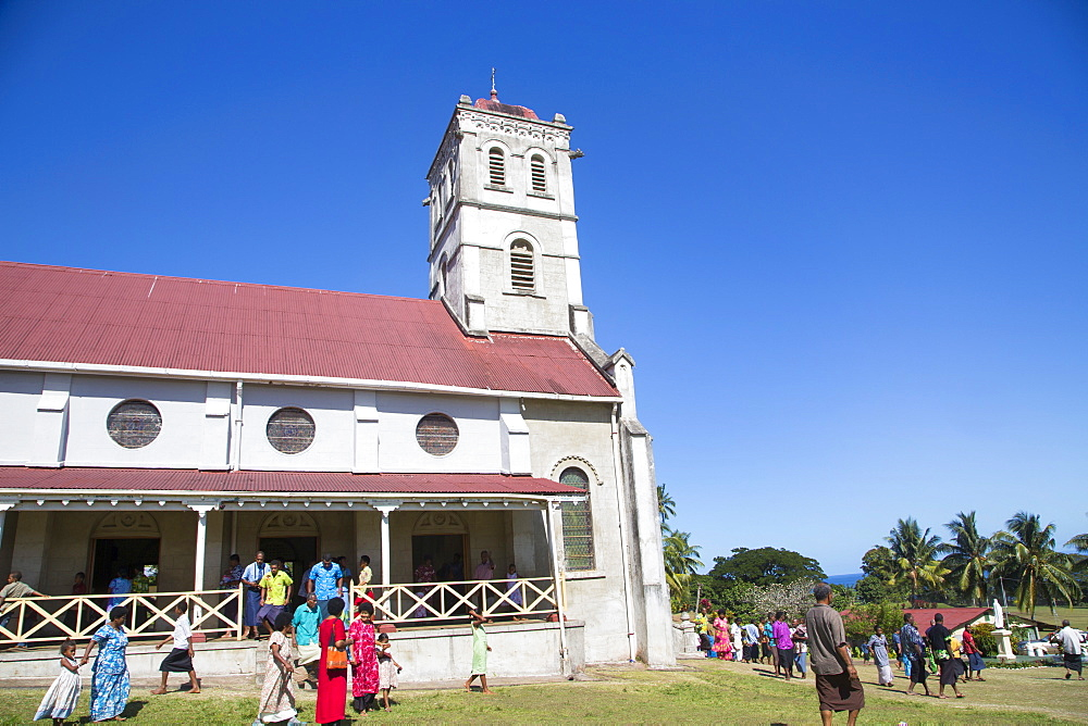 Wairiki Mission, Waiyavo Catholic Church, Taveuni, Fiji,. Pacific - 632-5308