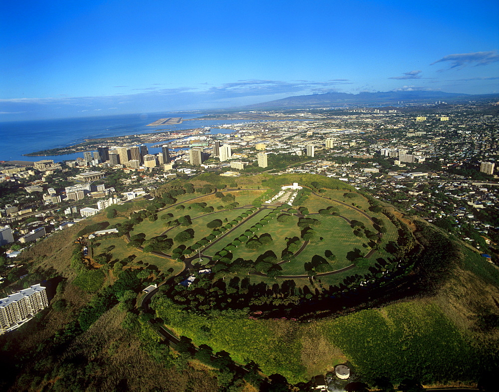 Punchbowl, National Memorial of the Pacific, Honolulu, Oahu, Hawaii, United States of America, Pacific