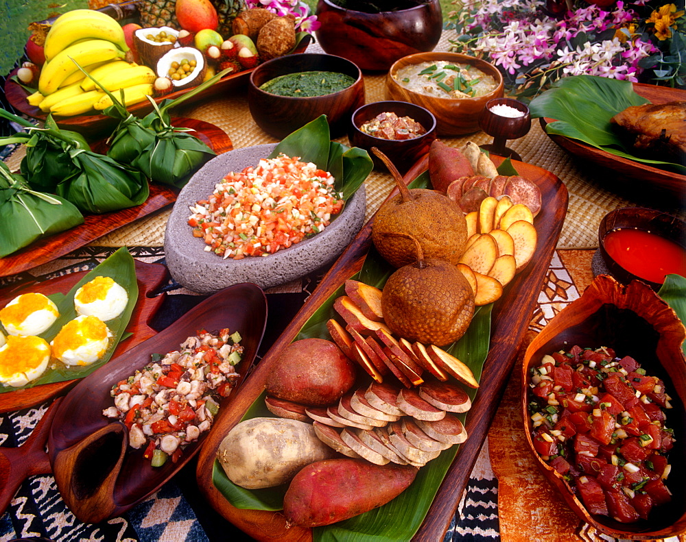 Luau food, Hawaii, United States of America, Pacific - 632-5598