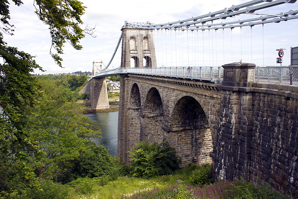 Menai Bridge, Anglesey, North Wales, Wales, United Kingdom, Europe - 64-1357