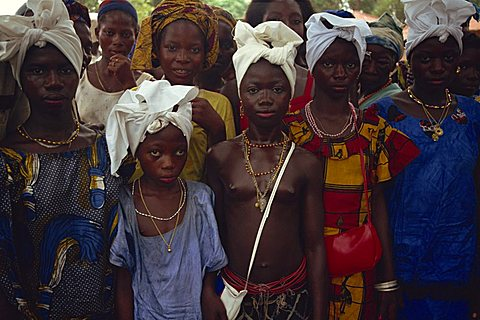 Girls before circumcision, Sierra Leone, West Africa, Africa