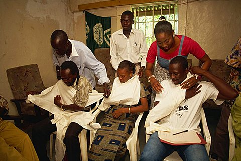 Red Cross first aid training, The Gambia, West Africa, Africa - 640-1548