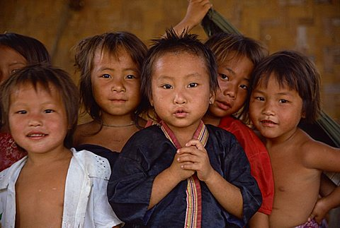 Hmong children, Laos, Indochina, Southeast Asia, Asia - 640-2280