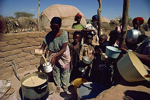 Ethiopian refugees in camps in 1985, Somalia, Africa - 640-454